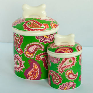 Paisley Treat Jar