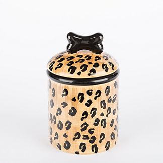 Leopard Treat Jar