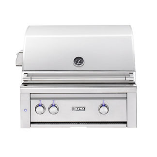 Lynx 30-inch Built-in Grill with Brass Burners and Rotisserie