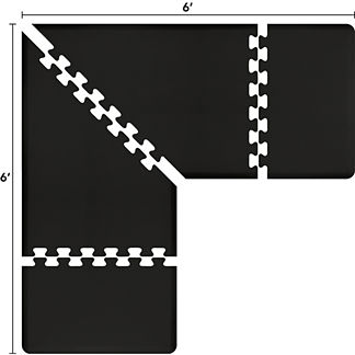 Puzzle Piece 3' L-Series Anti-Fatigue Mat