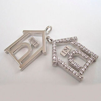 In & Out Dog House Charm Necklace