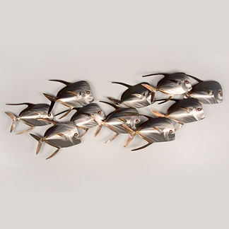 Lookdown Fish School Wall Art by Copper Art