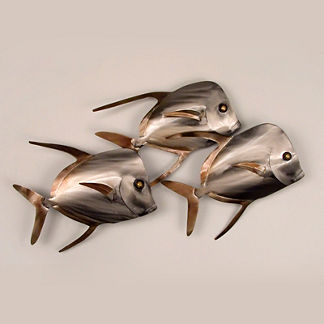 Lookdown Fish Trio Wall Art by Copper Art