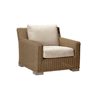 Rustic Lounge Chair with Cushion by Summer Classics