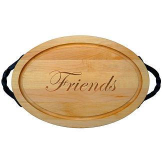 Personalized Oval Cutting Board with Name or Phrase