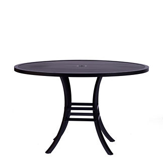 Cort Round Slatted Dining Table by Summer Classics