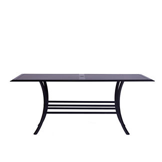 Rectangular Slatted Dining Table by Summer Classics