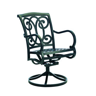 Somerset Dining Swivel Rocker with Cushion by Summer Classics