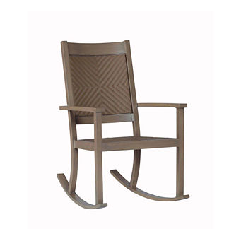 Club Woven Rocker with Cushions by Summer Classics