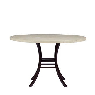 Superstone Faux Travertine Round Dining Table by Summer Classics