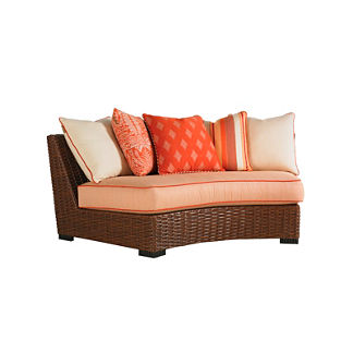Tommy Bahama Ocean Club Pacifica Curved Sectional with Pillows