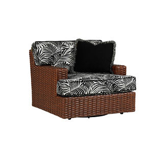 Tommy Bahama Ocean Club Pacifica Swivel Chair with Pillow