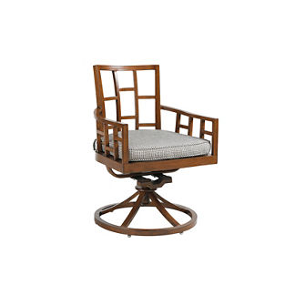 Tommy Bahama Ocean Club Resort Swivel Rocker Dining Chair