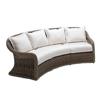 Havana Curved Sofa with Cushions