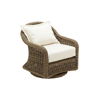 Havana Swivel Glider Arm Chair with Cushion