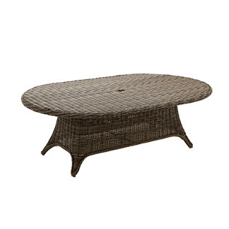 Havana Oval Woven Dining Table