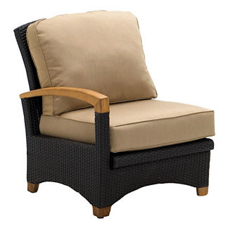 Plantation Reclining Right-end Chair with Cushions