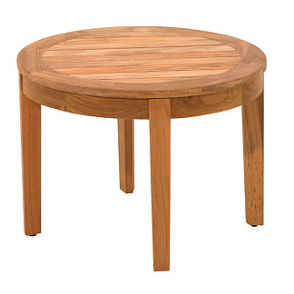 Teak Large Round Side Table