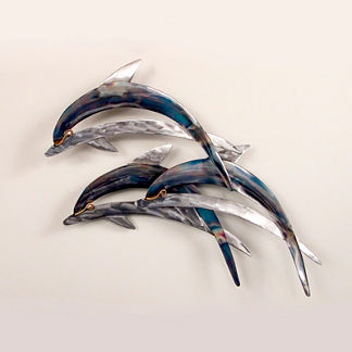 Dolphin Trio Wall Art by Copper Art
