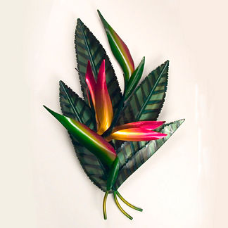 Bird of Paradise Wall Art by Copper Art