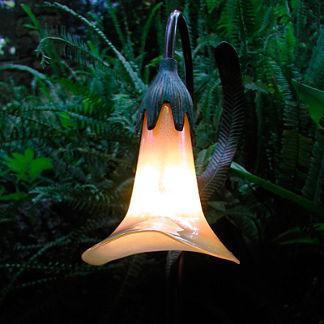 Opal Glass Burmese Calla Lily Garden Light
