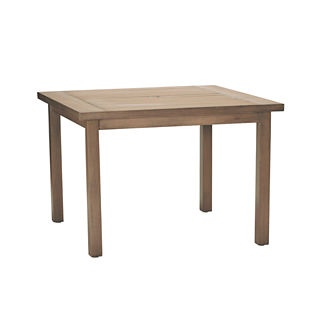 Croquet Aluminum Club Square Dining Table by Summer Classics