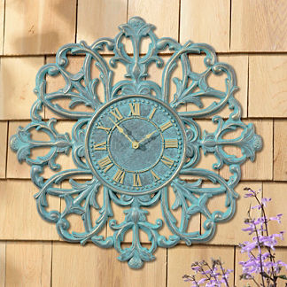 Medallion Outdoor Clock