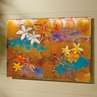 Summer Flowers Copper Art