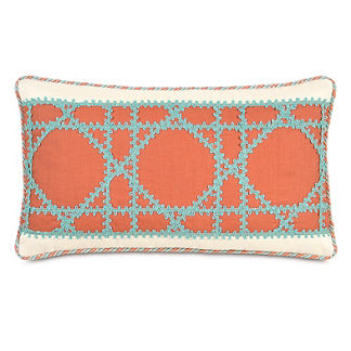 Captiva Lattice Decorative Pillow