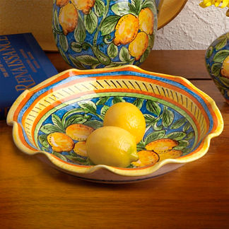 Limoncello Ruffled Bowl