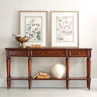 Canfield Three Drawer Console Table