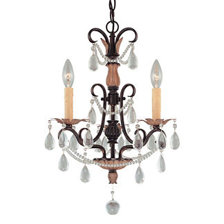Bronzewood 3-light Mini Chandelier