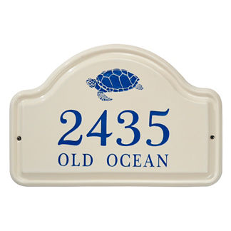 Sea Turtle Ceramic Address Plaque