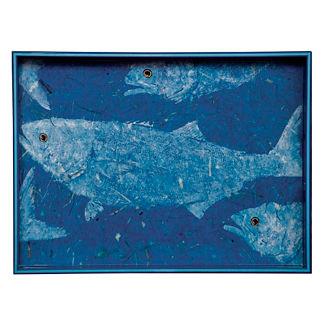 Blue Fish Tray