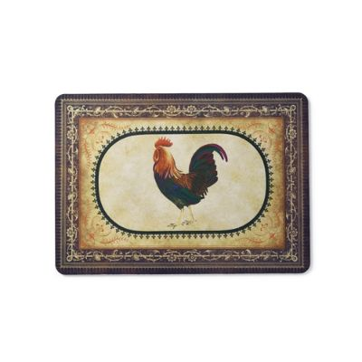 victory rooster mat  frontgate, round rooster kitchen rugs