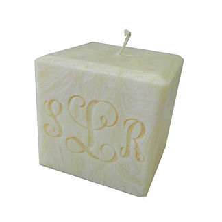 Monogrammed Palm Wax Candle