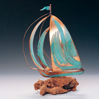 Driftwood Sailboat Sculpture