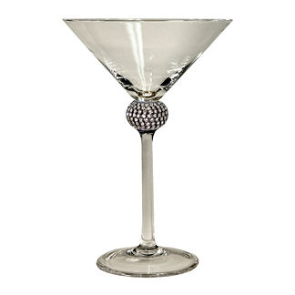Princess Martini Glass with Silver Crystals