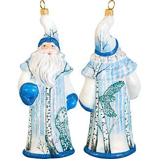 Glitterazzi Snowy Owl Santa Ornament