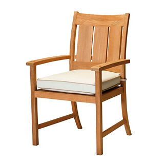 Croquet Teak Dining Arm Chair with Cushion by Summer Classics
