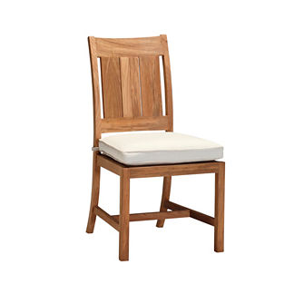 Croquet Teak Side Chair with Cushion by Summer Classics
