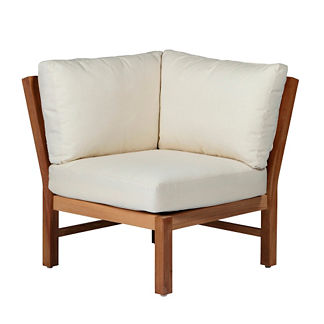 Club Teak Corner Chair with Cushions by Summer Classics