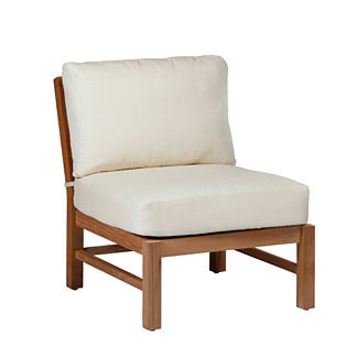 Club Teak Slipper Chair with Cushions by Summer Classics