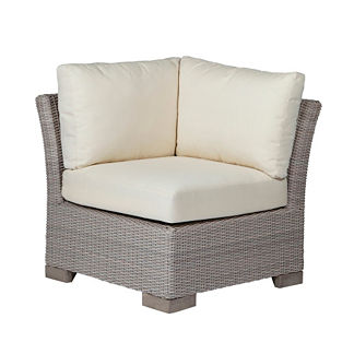 Club Woven Corner Chair with Cushions by Summer Classics