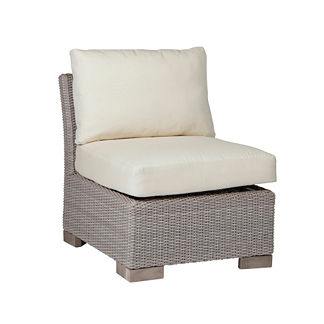 Club Woven Slipper Chair with Cushions by Summer Classics