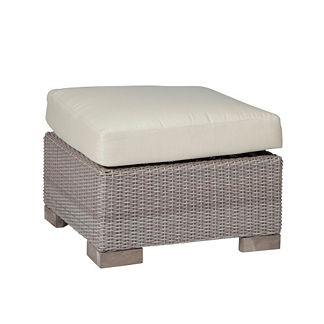 Club Woven Ottoman with Cushion by Summer Classics