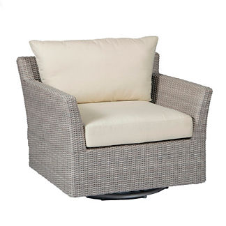 Club Woven Swivel Lounge Chair with Cushions by Summer Classics