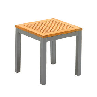 Luna Square Side Table with Teak Top