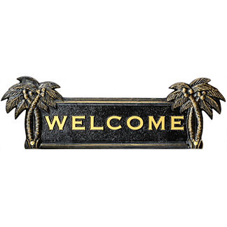 Palm Tree Welcome Plaque