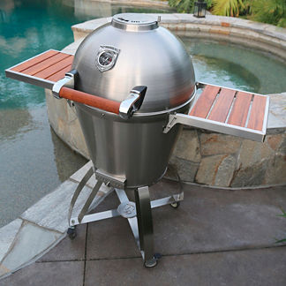 Thermashell Pro Charcoal Grill (cart with shelves sold separately)
